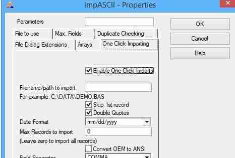 IMPEX – User Controlled Import/Export Of Data